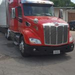 New freight shipping trucks